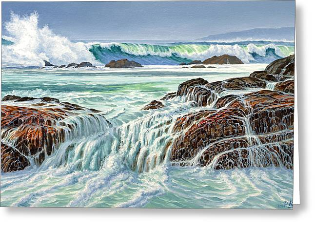 Pacific Greeting Cards - At Point Lobos Greeting Card by Paul Krapf