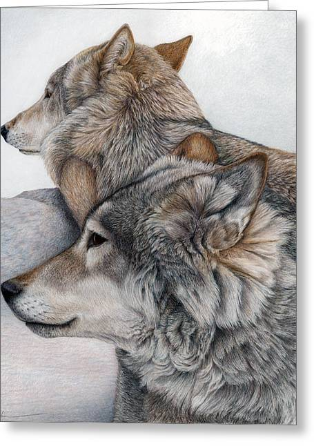 Pencil Greeting Cards - At Rest But Ever Vigilant Greeting Card by Pat Erickson