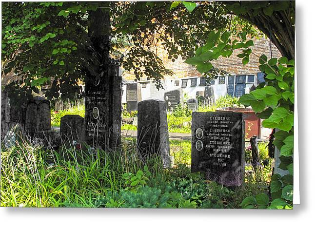 Famous Person Photographs Greeting Cards - At Rest - Novodevichy Cemetery - Russia Greeting Card by Madeline Ellis