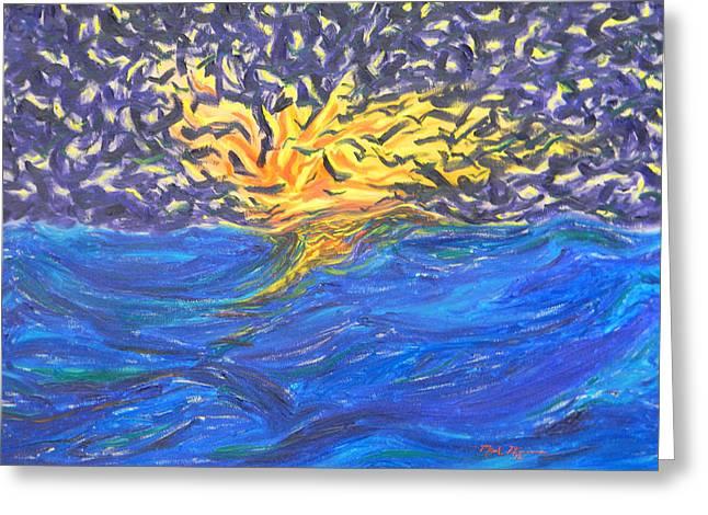 Jonah Paintings Greeting Cards - At Sea Greeting Card by Mark Minier