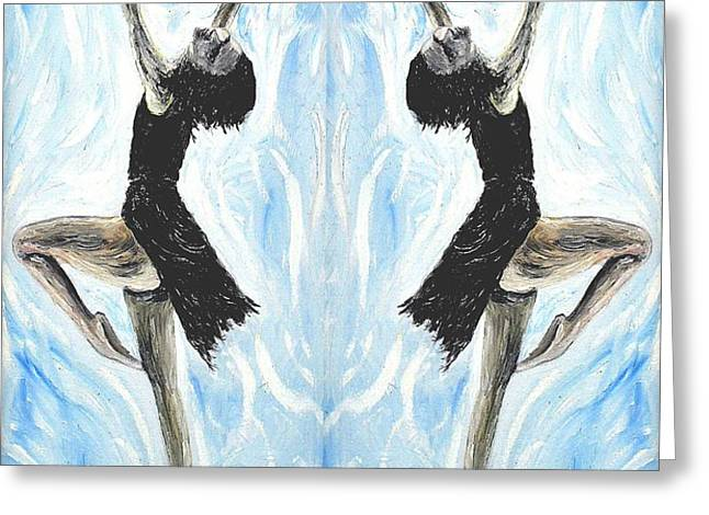 AT THE BALLET Greeting Card by Patrick J Murphy