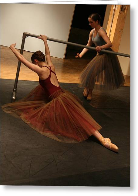 At The Barre Greeting Card by Kate Purdy