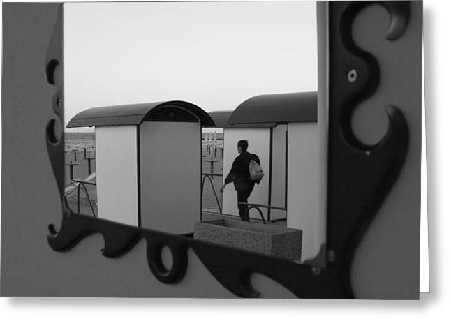 Cubicle Greeting Cards - At the beach - monochrome Greeting Card by Intensivelight