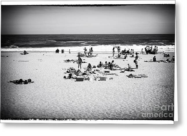 People At The Beach Greeting Cards - At the Beach Greeting Card by John Rizzuto