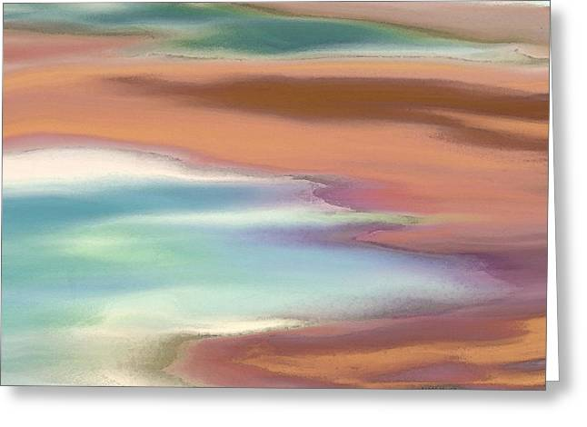 Sand Pattern Greeting Cards - At the Beach Greeting Card by Lenore Senior
