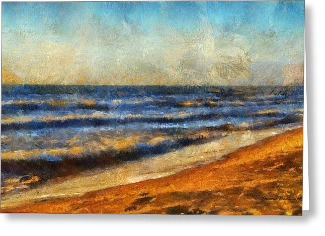 Chaise Greeting Cards - At The Beach Photo Art 06 Greeting Card by Thomas Woolworth
