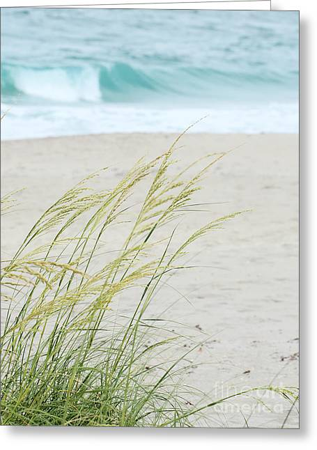 Oceanview Greeting Cards - At the Beach Greeting Card by Sabrina L Ryan