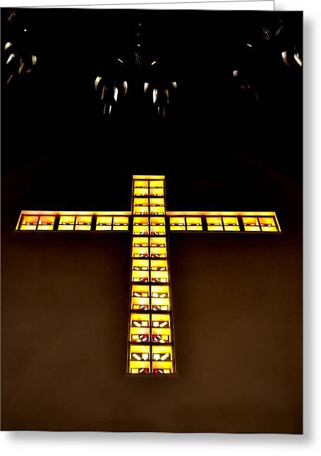 Calvary Greeting Cards - At The Cross Greeting Card by Deena Stoddard