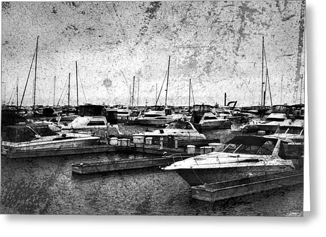 Diane Reed Greeting Cards - At The Dock Greeting Card by Diane Reed