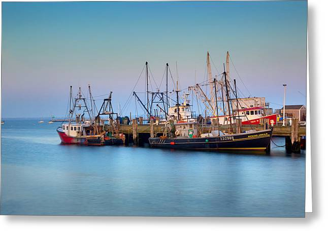 Provincetown Greeting Cards - At the Docks Greeting Card by Bill  Wakeley