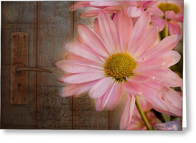 At The Door Greeting Card by Bellesouth Studio