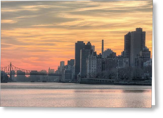 Harlem River Greeting Cards - At the Edge of Night Greeting Card by JC Findley