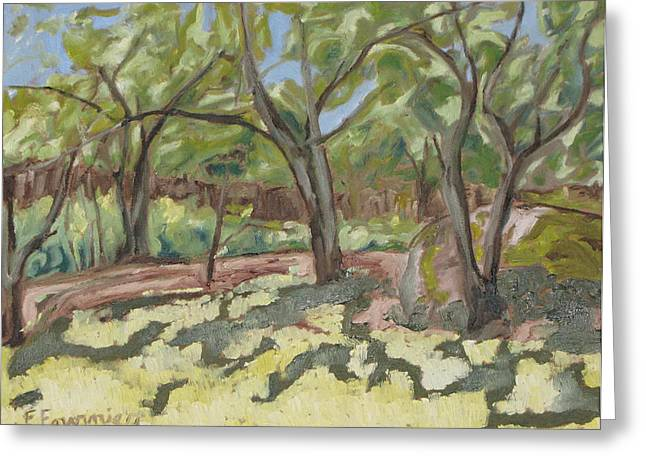 Impressionist Greeting Cards - At The Edge Of The Orchard Greeting Card by Francois Fournier