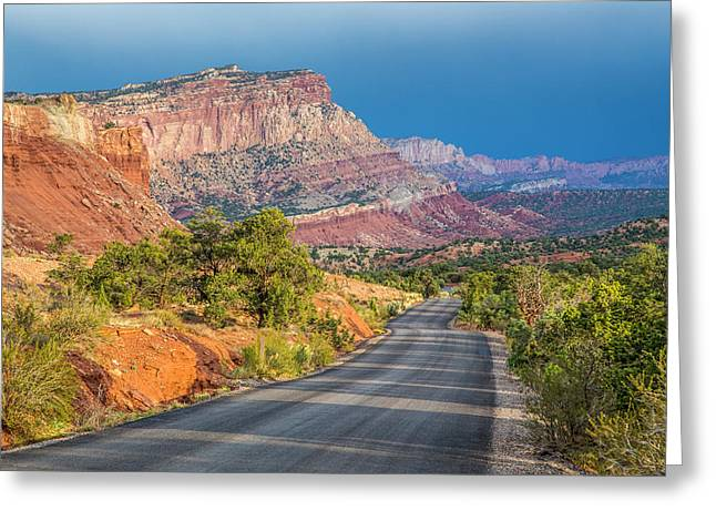 Mountain Road Greeting Cards - At the edge of the storm Greeting Card by Pierre Leclerc Photography