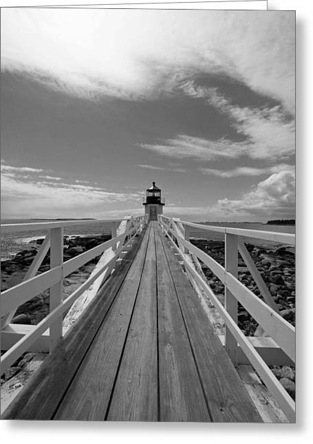 Coastal Maine Greeting Cards - At The End Greeting Card by Becca Brann