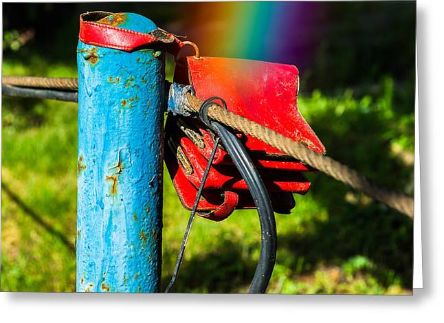 Rainbow Fantasy Art Greeting Card Greeting Cards - At The End Of A Rainbow Greeting Card by Alexander Senin