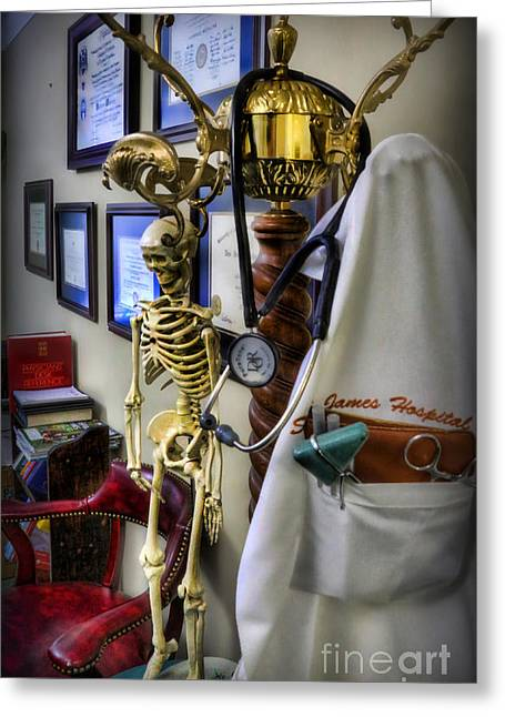Neurosurgeon Greeting Cards - At The End of the Day - Doctor  Greeting Card by Lee Dos Santos