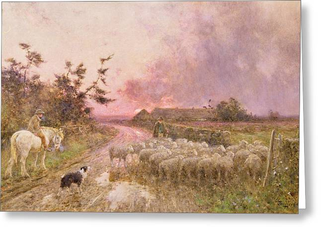 At The End Of The Day Greeting Card by Thomas James Lloyd