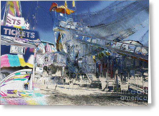 Slide Prints Digital Greeting Cards - At The Fair Greeting Card by Barbara D Richards