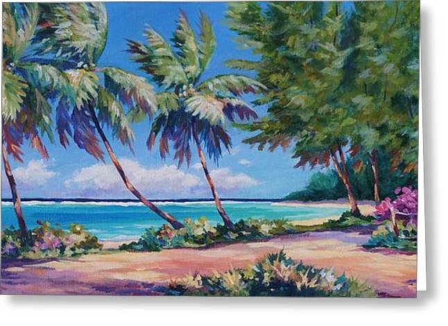 Acrylic Art Greeting Cards - At the Islands End Greeting Card by John Clark