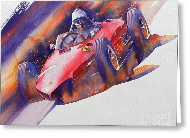 Automobilia Greeting Cards - At The Limit Greeting Card by Robert Hooper