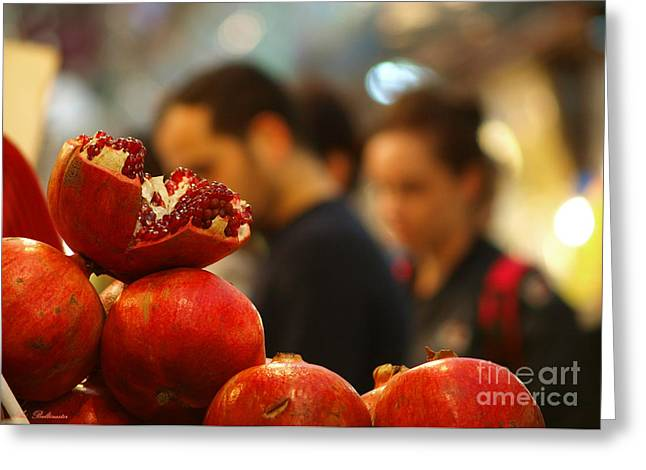 Color Photo Greeting Cards - At the market Greeting Card by Arik Baltinester
