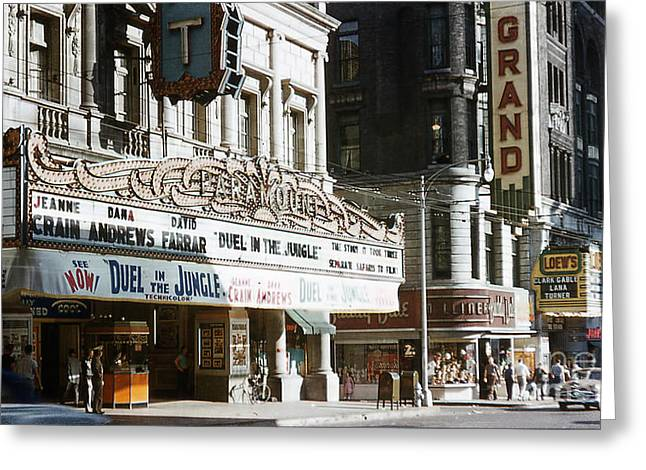 At The Movies 1954 Greeting Card by Terry Weaver