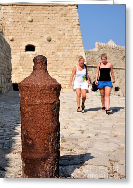 Touristic Greeting Cards - Old fortress in Iraklio city Greeting Card by George Atsametakis