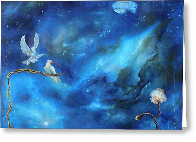 Stary Sky Greeting Cards - At the other side of the sun Greeting Card by Yara Pirk