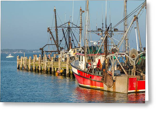 Provincetown Greeting Cards - At the Pier Greeting Card by Bill  Wakeley