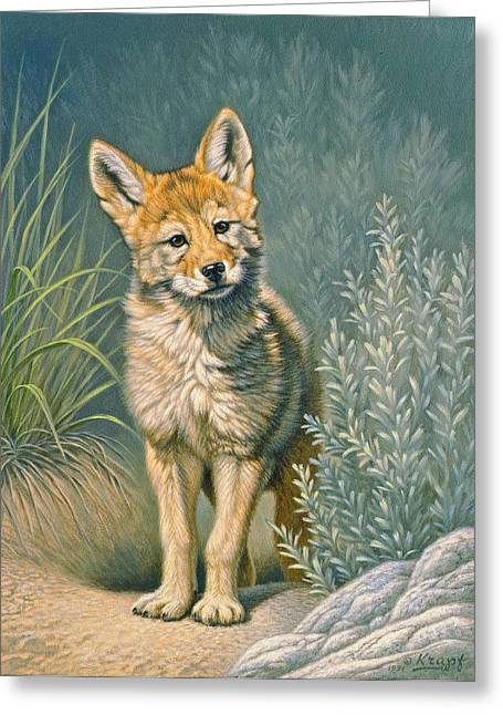 Wildlife Greeting Cards - At the Play Den Greeting Card by Paul Krapf