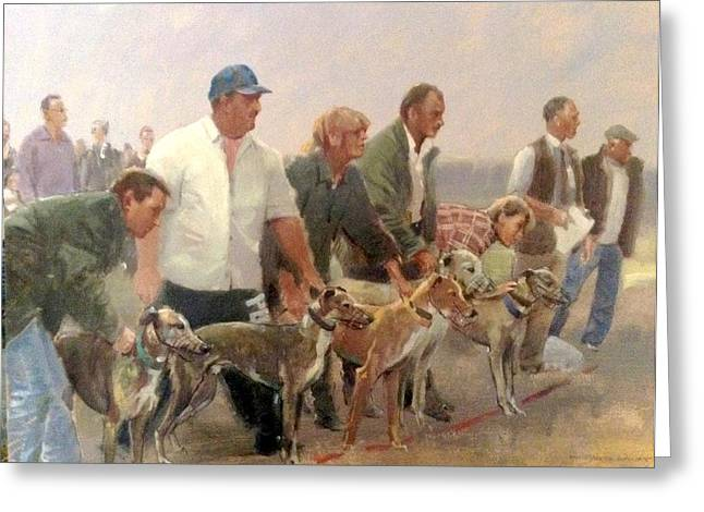 Event Pastels Greeting Cards - A day at the races Greeting Card by Derek Williams RBSA FRSA