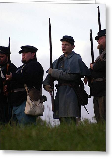 Bayonet Digital Art Greeting Cards - At the Ready Line - Perryvile KY Greeting Card by Thia Stover