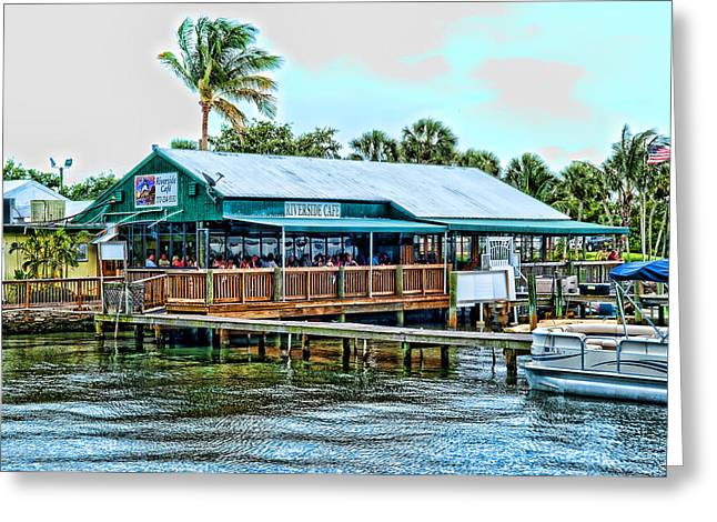 Frank Feliciano Greeting Cards - At The Riverside On Mothers Day 2112 Greeting Card by Frank Feliciano