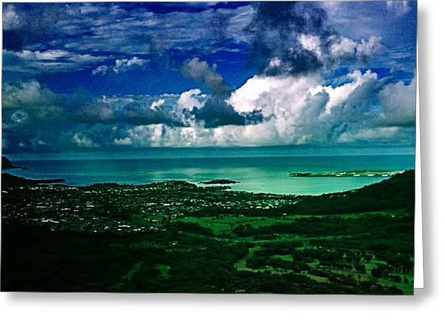 Horizen Greeting Cards - At The Top Greeting Card by Art By Kimby