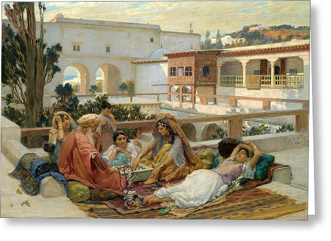 Frederick Greeting Cards - At the Waters Edge Greeting Card by Frederick Arthur Bridgman