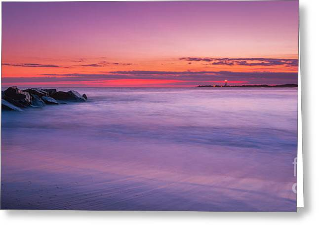 Jerseyshore Greeting Cards - At The Waters Edge Greeting Card by Michael Ver Sprill