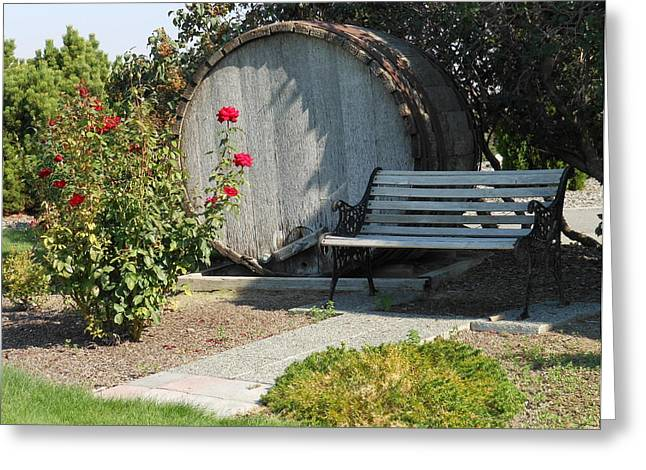 At The Winery Greeting Card by Kay Gilley