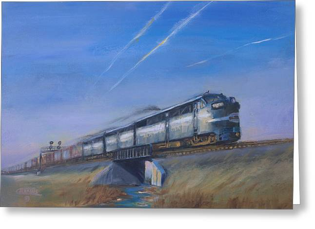 Indiana Paintings Greeting Cards - At Track Speed Greeting Card by Christopher Jenkins