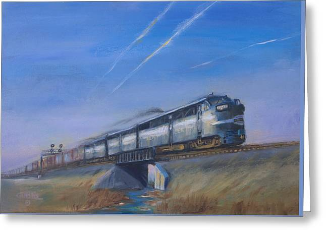 At Track Speed Greeting Card by Christopher Jenkins