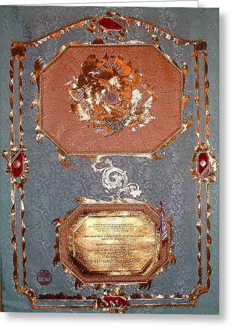 Metallic Tapestries - Textiles Greeting Cards - AT Vastness Greeting Card by Dan A  Barker