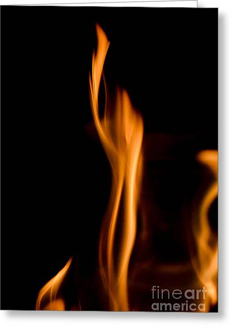 Burning Statue Greeting Cards - AT845903 fire statue Greeting Card by Karl Thomas