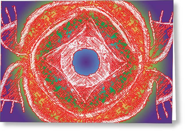 Taino Greeting Cards - Atabeira 2 Greeting Card by Luis Cordero Santoni