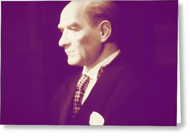 Atat Greeting Cards - Ataturk Greeting Card by Nathan Morley