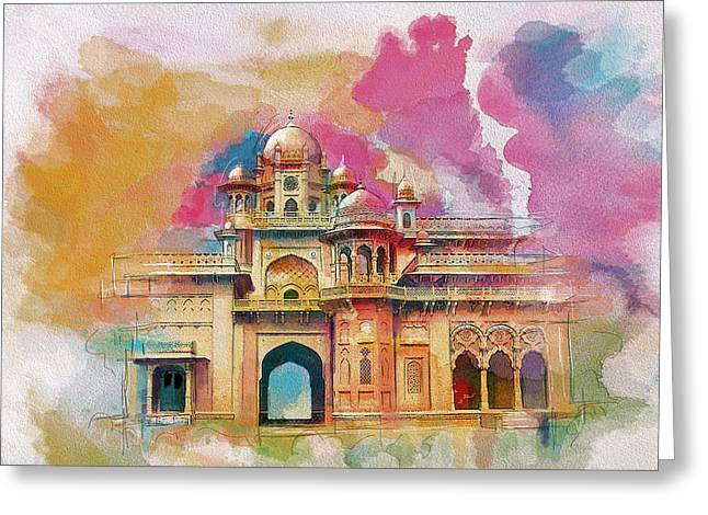 Pakistan Greeting Cards - Atchison College Greeting Card by Catf