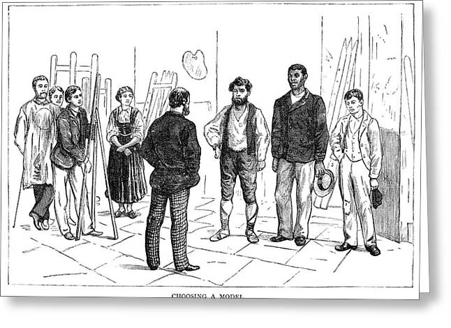 Atelier, 1884 Greeting Card by Granger