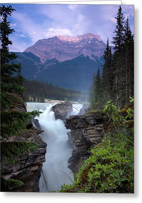Jasper Greeting Cards - Athabasca Falls  Greeting Card by Cale Best