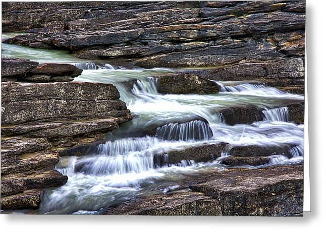 Layer Greeting Cards - Athabasca Falls Greeting Card by Stuart Litoff