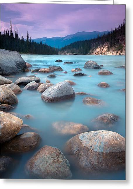 Alberta Water Falls Greeting Cards - Athabasca Rocks Greeting Card by Cale Best