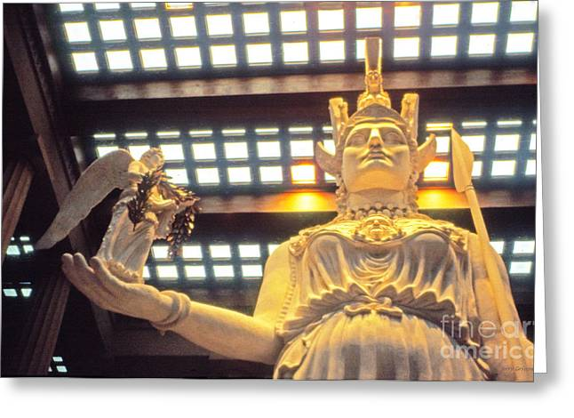 Athena And Nike Sculpture Greeting Card by Jerry Grissom
